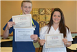 Students holding Careers in Care Excellence Awards